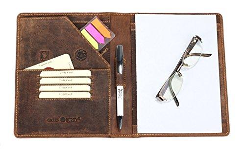 Greenburry-Leder-Schreibmappe-A5-Vintage-DIN-A5-Konferenzmappe-aus-Leder-Vintage-A5-Dokumentenmape-aus-Leder-braune-Schreibmappe-aus-Leder-22x18x32-cm