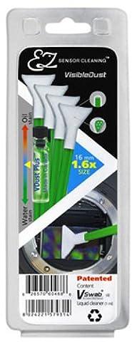 Visible Dust-EZ Kit de nettoyage pour capteur - 1,6 x capteurs 1 ml produits VDust & compresses 4 Vert