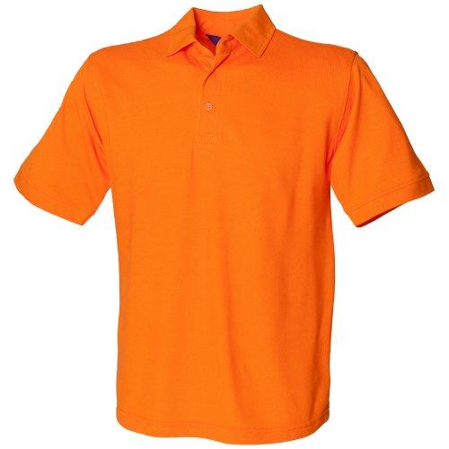 Henbury 65/35 polo Orange
