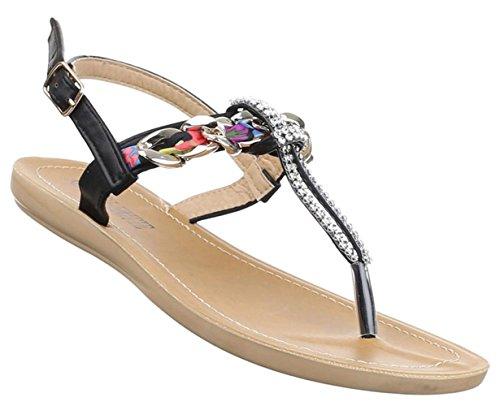 Senhoras Sandália Flip-flops Flip Flops Damenschuhe Strass Bege Rosa Branca 36 37 38 39 40 41