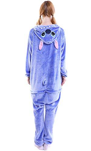 Imagen de dolamen adulto unisexo onesies kigurumi pijamas, mujer hombres traje disfraz animal pyjamas, ropa de dormir halloween cosplay navidad animales de vestuario x large 68.8