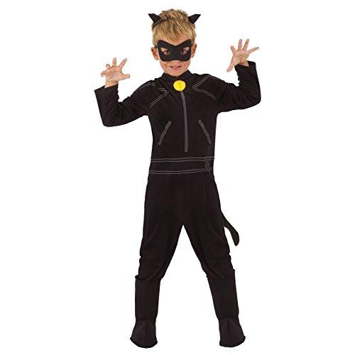 Ladybug–Kinder Kostüm Cat Noir Classic, M (Rubie 's -