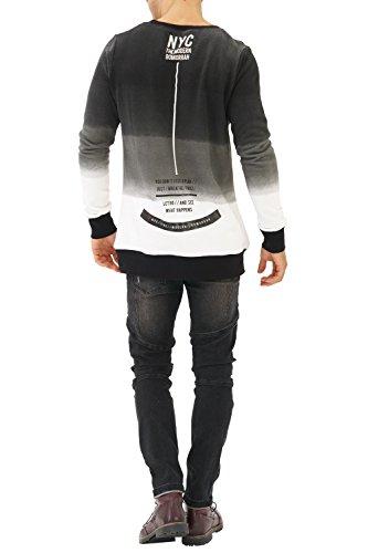 trueprodigy Casual Herren Marken Sweatshirt mit Aufdruck, Oberteil cool und stylisch mit Rundhals (Langarm & Slim Fit), Sweatshirt für Männer in Farbe: Schwarz 2582115-2999 Black