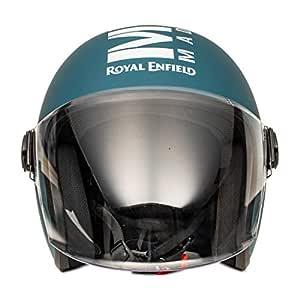 Royal Enfield Matt Blue Open Face with Visor Helmet Size (L)58 CM (RRGHEL000050)