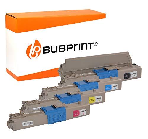Bubprint 4 Toner kompatibel für Oki C301 C301DN C321 C321DN MC332 MC332DN MC340 MC342 MC342DN MC342DNW Schwarz Cyan Magenta Gelb -