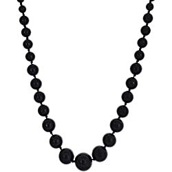 Kastiya Jewels Black Onyx Semi Precious Gemstone Beads Necklace For Women