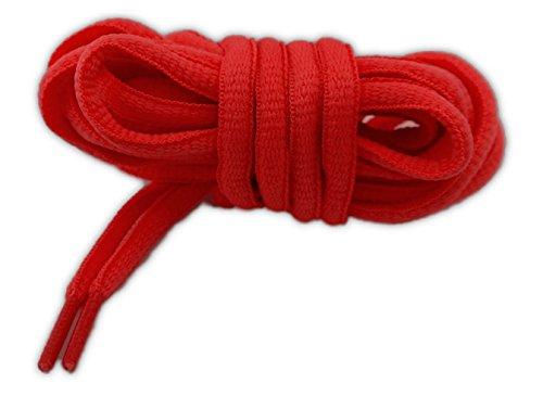 Cordones deportivos ovalados alta calidad 125 cm rojo