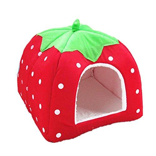 stierbett Strawberry Pet Hund Katze Haus Kennel Doggy Fashion Kissen Korb ()