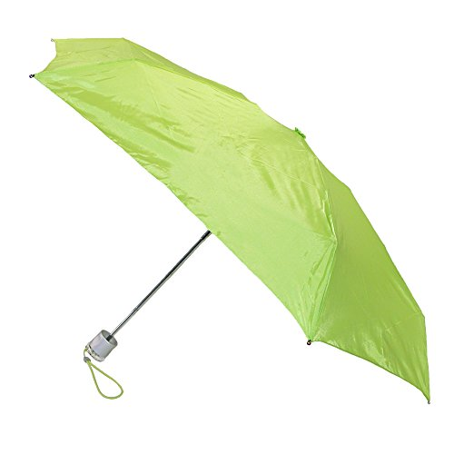 totes-isotoner-micro-sized-travel-solid-colour-compact-umbrella-green