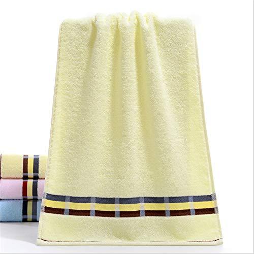 Licht Gesicht Waschen (Badetuch Multifunktionsschwimmen Wandern weiche saugfähige Baumwolle Handtuch waschen Gesicht Handtuch Licht Aprikose 75 * 34)