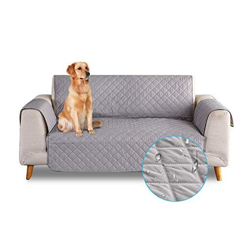 PETCUTE Funda de sofá 3 plazas Cubre Sofas Impermeable Protector de sofá Antideslizante Acolchado...