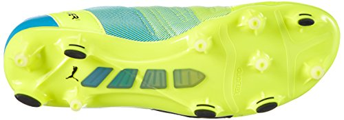 Puma evoPOWER 1.3 Lth FG Herren Fußballschuhe Gelb (safety yellow-black-atomic blue 01)