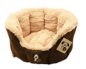 Montieri Oval Pet Bed 22 Inches Dog Bed by Montieri