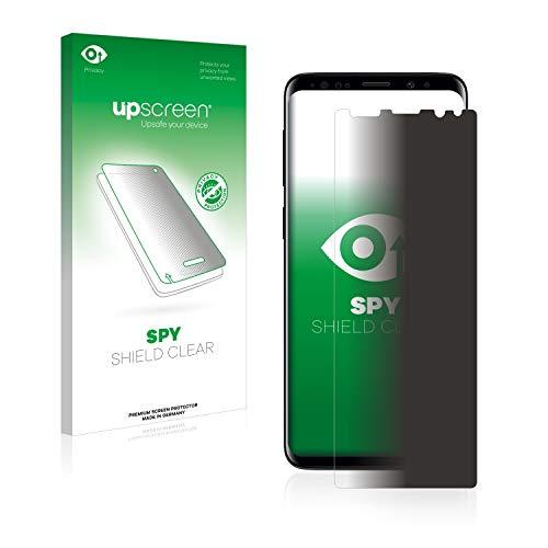 upscreen Anti-Spy Blickschutzfolie kompatibel mit Samsung Galaxy S9 Plus Privacy Screen Sichtschutz Displayschutz-Folie