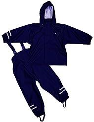 Elka Regenanzug Regenhose + Regenjacke für Kinder, gestreift und einfärbig Farben viele Größen 220g/Polyester
