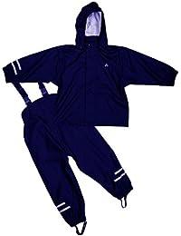 Unbekannt Elka Regenanzug Regenhose + Regenjacke für Kinder, Wasser- und Winddicht, gestreift oder einfärbig, Vielen Farben und Größen 220g/Polyester
