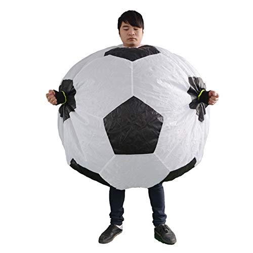 LINAG Halloween Aufblasbares Kostüm für Erwachsene, Aufblasbare Fußball Kleidung für Party Geschenk Cosplay Party Kostüm, Fasching Karneval (Fußball Kostüm Für Paare)