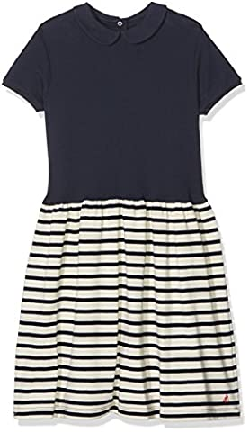 Petit Bateau Girl's Favelo Dress, Multicoloured (Smoking/Coquille), 12 Years (Manufacturer Size:12A 12 ANS)