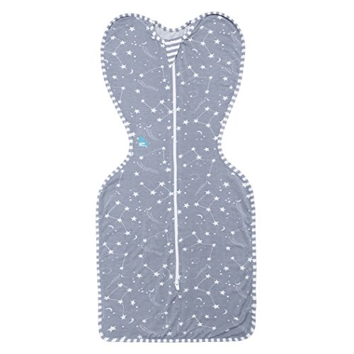 Love to Dream Bambus swaddleup Baby Wickeldecke grau Sterne – Kleine 6,5 – ca. 6 kg (3–6 kg)
