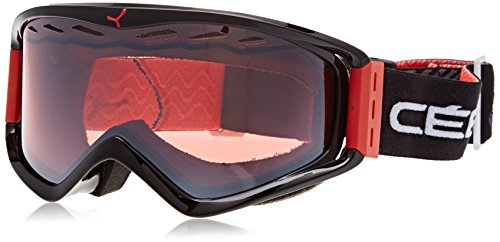 Cébé Unisex Erwachsene Skibrille Infinity OTG Red Curve/Light Rose Flash Mirror