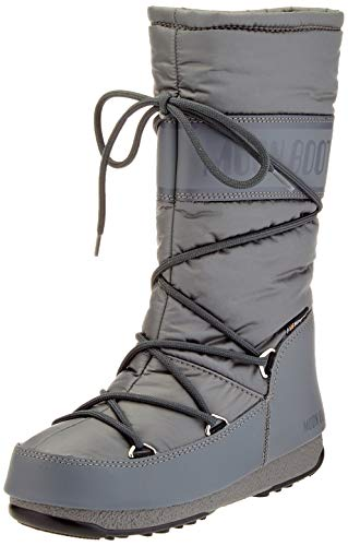 Moon-boot Damen High Nylon Wp Schneestiefel, Grau (Grigio 006), 38 EU