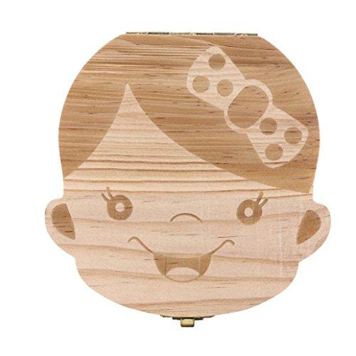 Winkey Zahn Box Organizer für Baby Milch Zähne Aufbewahrungs Fairy Souvenir Box Andenken Halter Holz -