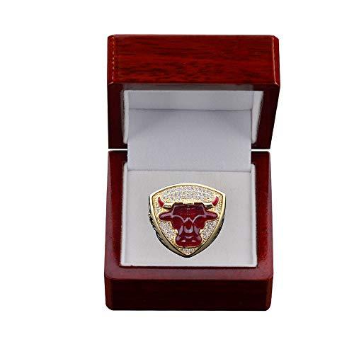 BUY-TO NBA-Meisterschaftsringe 1993 NBA Chicago Bulls Michael Jordan 23 für Fans Männer Frauen Valentinstag, Geburtstagsgeschenk,red,US-9