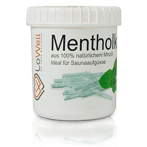 LoWell® ❤ - 100g Mentholkristalle in praktischer/wiederverschließbarer Dose - Premium-Qualität Sauna Kristalle Menthol -
