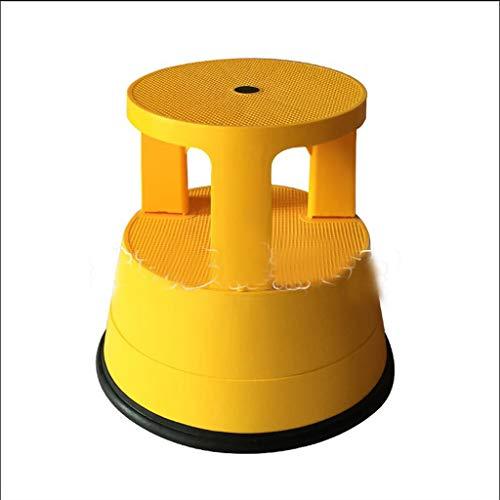 Byrhgood Leiter Hocker Kabinett Regal Aufsteigender Hocker Lagerverwaltung Cargo Hocker Zweiter Schritt Pedal Hocker Hocker Kunststoff Hocker Haushaltsleiter (Color : Yellow) -