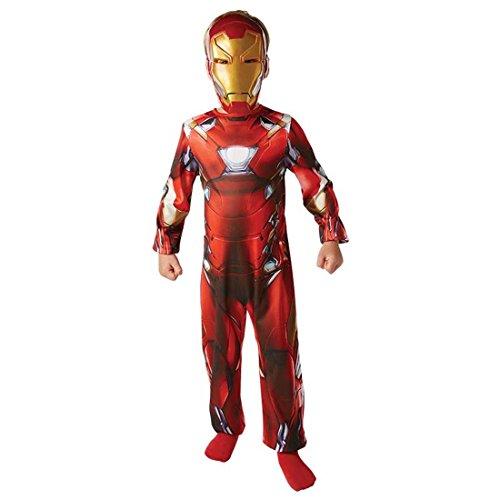 Kostüm Anzug Man Iron (Kinderkostüm Ironman Deluxe Iron Man Kostüm M 128 cm Avengers Anzug Kind Superhelden Rüstung Faschingskostüm Kinder Superheld)