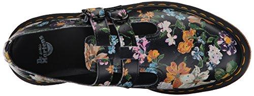 Dr Martens Donna Nero Darcy Floral Backhand 8065 Scarpe Nero