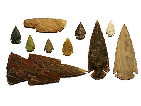 Tomahawk-Set Carré archeology expérimentales scolaires (reproductions de