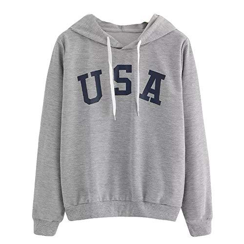 Damen Sweatshirt Langarm-Kapuzenpulli Pullover Warme Strickjacke Reißverschluss Jacke Sweatshirt Mantel