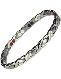 MPS® ALIOTH Classic - Titanium & Germanium Magnetic Bracelet for Women + Free Link Removal Tool