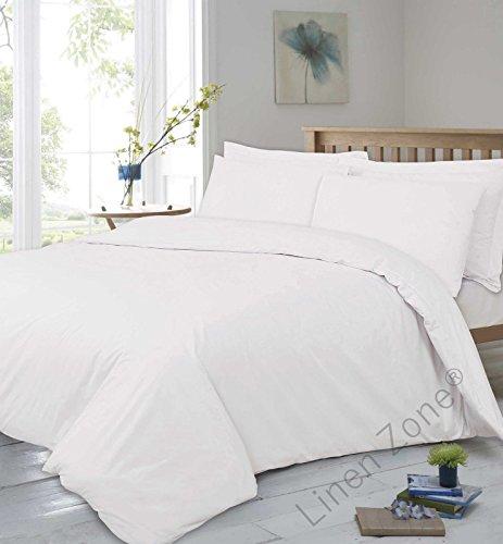 T400Fadenzahl reine Ägyptische Baumwolle Super Soft Hotel Qualität Spannbetttuch,, Weiß, Super King (Duvet Cover King)