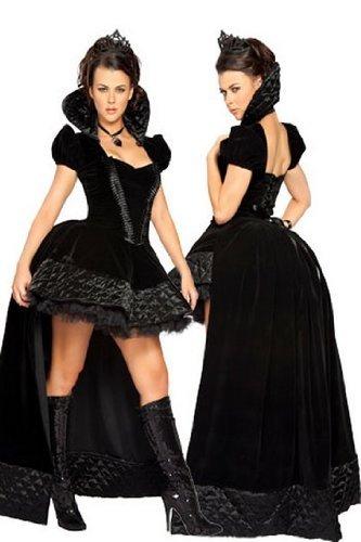 Costume Regina Dark Queen - Taglia Unica - W1010