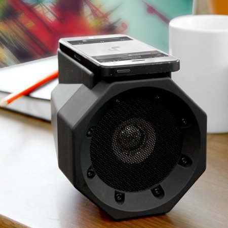 Smileto Portable Touch Speaker Boom Box With No Cable, No Pairing, Just Touch For Instant Amplification(black)