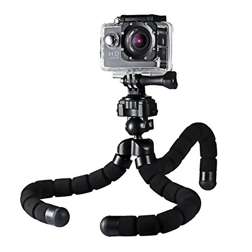 41uWQsBLI5L - BEST BUY #1 Mpow Flexible Camera Phone Tripod Stabilizer Travel Stand Holder with Bluetooth Remote Shutter for Smartphone & Digital Camera Reviews and price compare uk