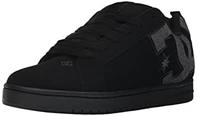 DC Men's Court Graffik SE Skate Shoe,Black Destroy Wash,10 D US