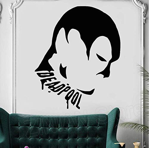 Kinderzimmer Superheld Muster Wandaufkleber Deadpool kinder Kunst Aufkleber Wohnkultur Schlafzimmer Vinyl Aufkleber Wandbild 42x51cm