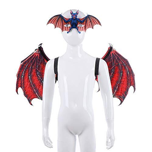 Machen Dragon Wings Kostüm - LUYION Kinder Halloween Dragon Wings Schwanz