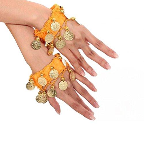 Armbänder Charme Kostüm - SUPVOX Bauchtanz Armband Handgelenk Fußfesseln Armbänder Kostümzubehör