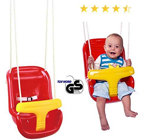 Izzy Baby-Schaukel hoch ab 6 Monate rot TÜV/GS (Baby Hoch Schaukel)