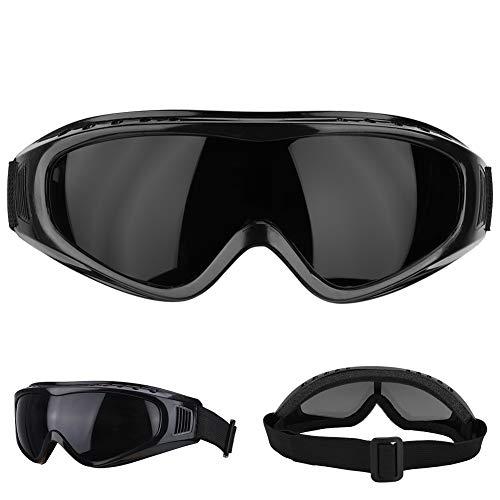 Mode Schutzbrille, Motorrad Brille Dirt Bike UV-Schutz Brille Polarisierte Sonnenbrille Sicherheitsbrille für die tägliche Übung, Golf, Motorrad fahren(Schwarz)