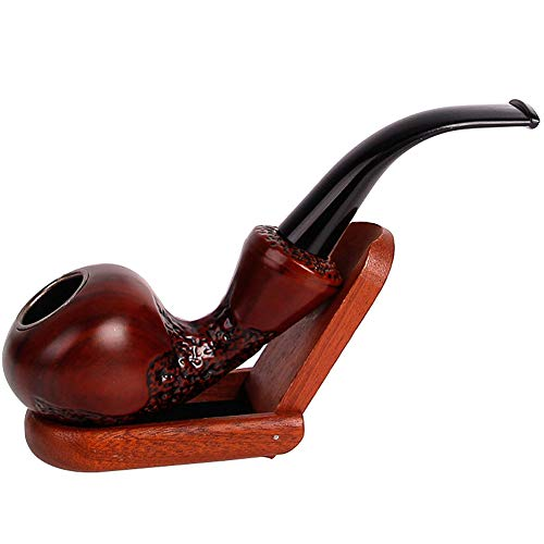 OPIB Tabac à Pipe en Bois Massif sculpté Freestyle résine Nettoyage Amovible Filtration Tabac Vintage Pipe