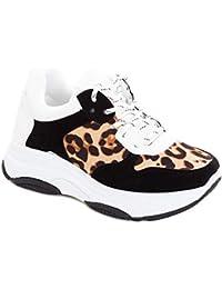 Toocool - Sneakers Donna Scarpe Ginnastica Leopardate Leo Animalier Lacci  Sport VB82066 93cc12606a8