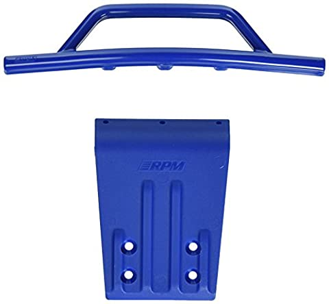 RPM Front Bumper and Skid Plate for 2WD Slash, Nitro Slash, Blue