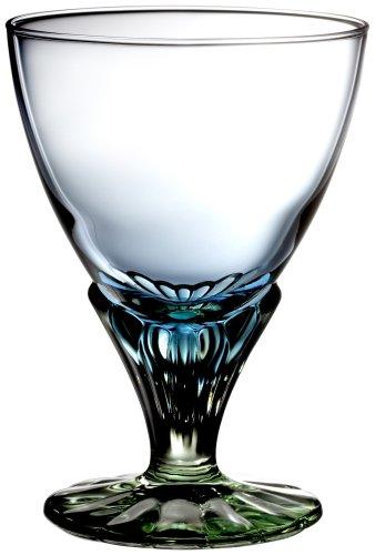 Bormioli Rocco 128440 Bahia Eisbecher, Eisschale, 350 ml, Glas, blaugrün, 6 Stück