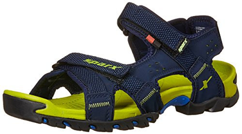 Sparx Men's SS0447G Navy Blue and Flourscent Green Athletic and Outdoor Sandals - 9 UK/India (43.33 EU) (SS-447)