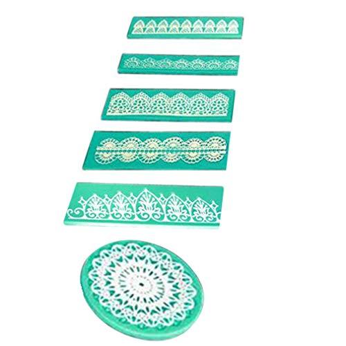 Spitze Silikonform Universal Kuchen Dekorieren Tools Zucker Handwerk Geprägte Form